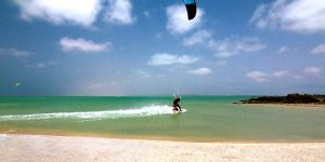 7 days guided Kiteboarding Holiday will bring your to the different spots on the Island